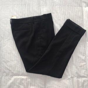 Anthropologie Cartonnier black cuffed taper pants